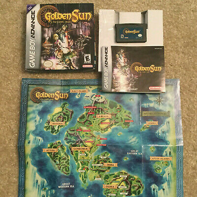 GOLDEN SUN: THE Lost Age (Nintendo Game Boy Advance) CIB complete with map