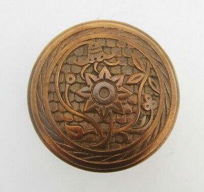 Original Antique Victorian Cast Bronze Eastlake Era Norwalk BUE BELL Door Knob