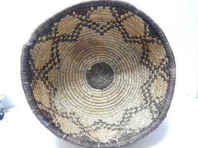 Vintage Western Apache Indian Large Sized Basket Bowl - Clean And Nice  Nr !