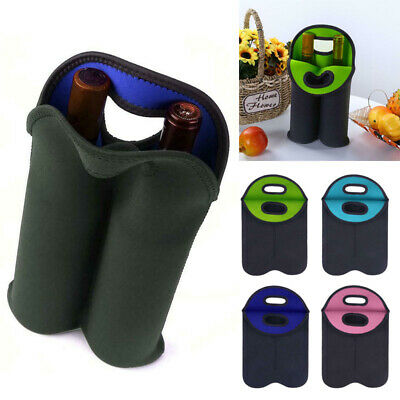 1x Nuovoware 2Wine Bottle Bag Portable Wine Tote Holders Carriers Insulated Bag