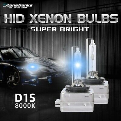 2pcs D1C D1R D1S 8000K Ice Blue HID Xenon Headlight OEM Replacement Bulbs Kit