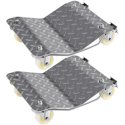 2 Car Wheel Dollies Car Skate Dolly Van Positioning Garage easy roll 360 degrees
