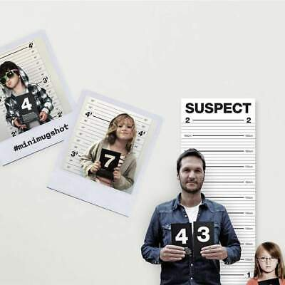 Mugshot Height Chart & Numbered Cards