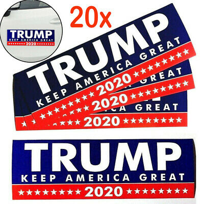 20Pcs Donald Trump President 2020 KEEP AMERICA GREAT Bumper Car Stickers Bu