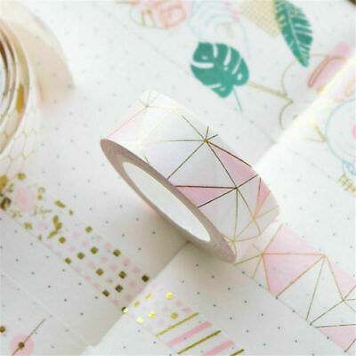 Pink Foil Paper Washi Tapes Stationery Bullet Journal DIY Tape Diary Decor 500cm
