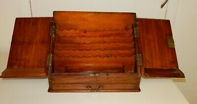 Victorian / Edwardian Mahogany Writing Correspondence / Stationary box (c719)