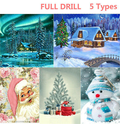 Newest Xmas Gifts Snowman 5D Diamond Painting Embroidery Cross Stitch AU Stock