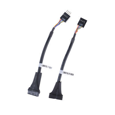 USB 3.0 20 pin motherboard header to usb 2.0 9 pin adapter converter cable L.
