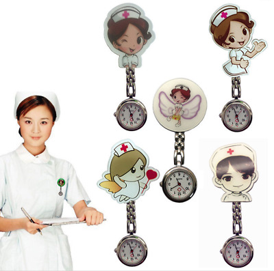 Novelty Nurse Fob Watch Brooch Pocket Watches Doctor Medical Pendant Clip Pop