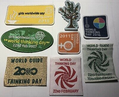 8 WAGGGS Thinking Day Girl Guide Badges