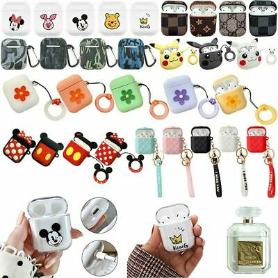 Shockproof For Apple Airpods case Cover Skin Anti Lost Strap Holder Airpod WW