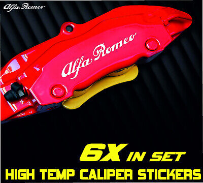 Alfa Romeo Brake Caliper Sticker Decal Car High Temp Kit Sport Giulia MiTo 4c