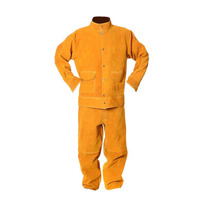Welding Protection Heat Insulation Protective Long Sleeve Suit - Yellow XL