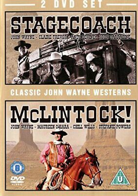 Stagecoach and McLintock DVD (1960) John Wayne New