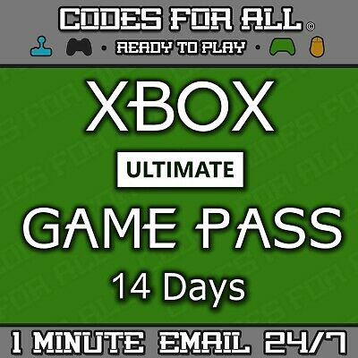 Xbox 14 Day Ultimate Game Pass - Xbox Live + Game Pass Instantly Dispatched 24/7