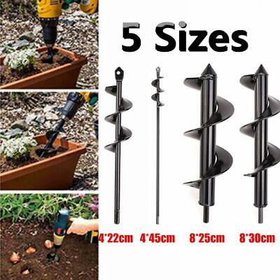 5 Sizes Planting Auger Spiral Hole Drill Bit For Garden Yard Earth Bulb Planter