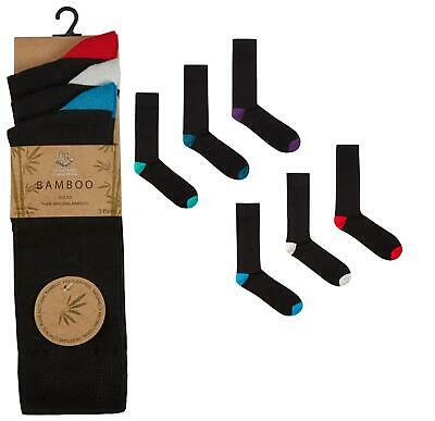 Mens Undercover Bamboo Mid Calf Striped/Argyle/Heel Contrast Socks 6 or 12 Pairs