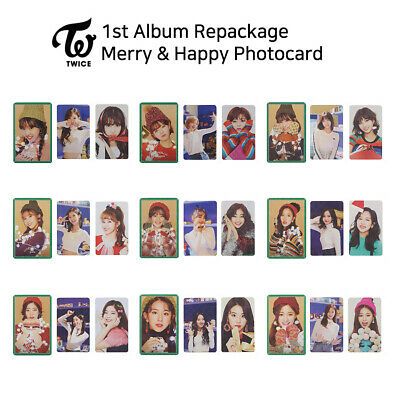 TWICE - 1st Album Repackage : Merry & Happy Official Photocard