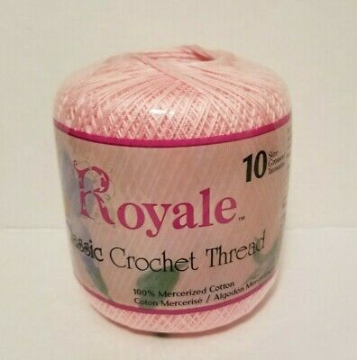 JP Coats Royal Classic Crochet Thread ORCHID PINK 401 100% Cotton 10 350 Yards