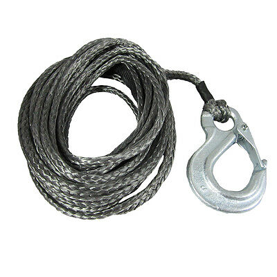8mm X 6m Dyneema SK78 Winch Rope Snap Hook - Spectra Boat Marine Cable Webbing