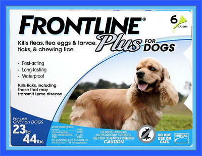 18 MONTH COMBO - Merial Frontline PLUS  For Dogs 23-44 lb - 100% AUTHENTIC, USA