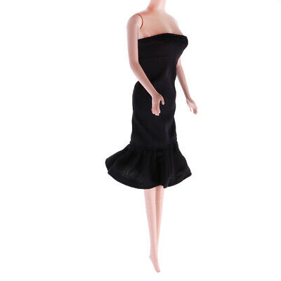 1/6 Stylish Black Short Evening Skirt for 12inch Doll Toys Dress Up Accs A