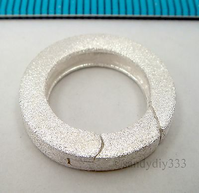 1x STERLING SILVER STARDUST ROUND SPRING LOBSTER CLASP BEAD 17.5mm #2375