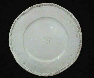 "Vietri Bellezza White Dinner Plate -11 1/4""   0712E"