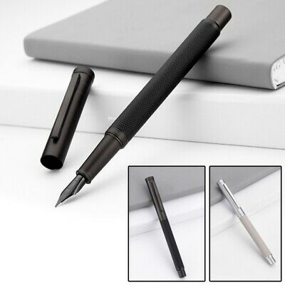 HongDian Fountain Pen With 0.4mm-0.5mm EF/F Nib Converter Pen Black White