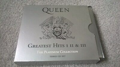 Queen ‎– Greatest Hits I II & III (Platinum Collection). Freddie Mercury. 3 CDs