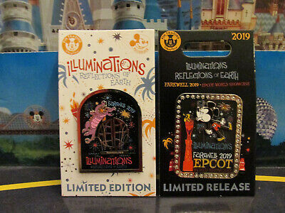 2019 Disney Epcot Farewell to Illuminations Logo and Passholder - 2 Pin Set