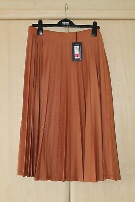 BNWT M/&S CLASSIC LADIES SKIRT ORANGE ELASTICATED WAIST SIZE 12 14 RRP £ 19.50