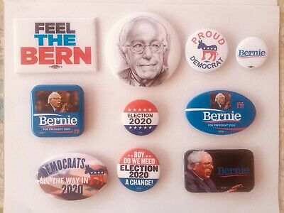 Bernie Sanders Set Of 10 Presidential Campaign Buttons.