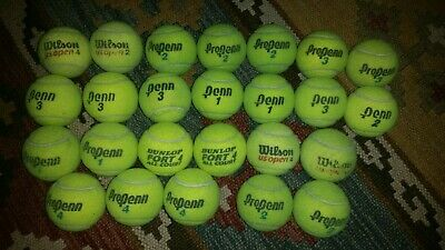 25 Used Tennis Balls Propenn Penn Practice Pets Actual Balls in the photos