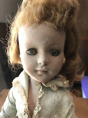 Antique 17 Inch Haunted Doll. Very Creepy, Odd,Ghost, Scary, Unusual, Paranormal