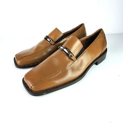 8009827ba663d Giorgio Brutini Private Collection Dress Loafer Shoes 9.5M Camel Tan Leather  NEW