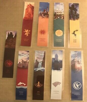 9 Game Of Thrones Capitol City Bookmarks