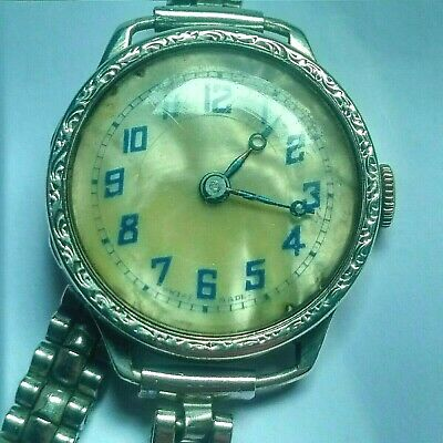 Vintage Watch Solid Silver Art Deco Style 1930S Ladies Watch In Excellent Condit