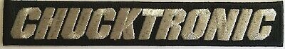 Chucktronic Amplifiers embroidered patch, iron on, instruments, amp cover patch