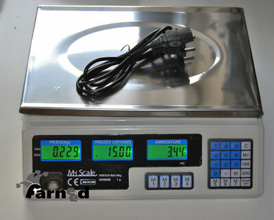 Electronic Scale Professional Bench Digital 40 Kg Double Display
