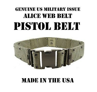 "New L Us Military Alice Pistol Web Utility Duty 2.25"" Belt Od Green Lbv Lce Lbe"