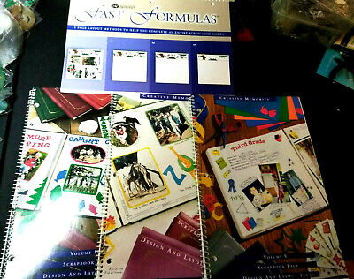 Lot of 4 New Creative Memories Scrapbook Design & layout Books Crafts