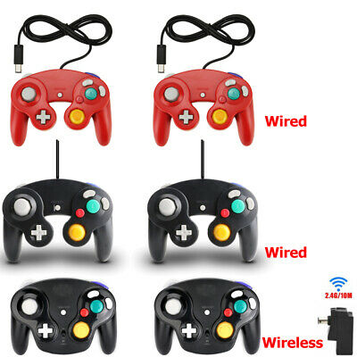 2x Wireless Wired NGC Controller Gamepad for Nintendo GameCube GC & Wii Console