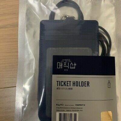BTS 5th Muster Magic Shop Official MD Photo Ticket Holder with Photocard Opened