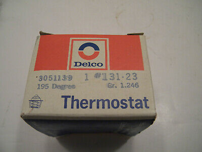 NOS Delco 195 Degree Thermostat 131-23 Gr. 1.246 3051139 (Buick/Cad/Pont/Chev)