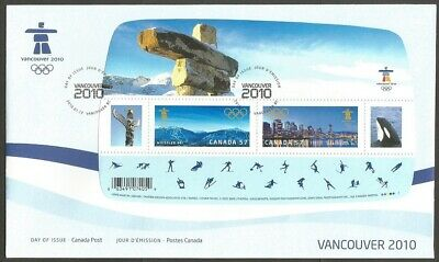 Canada Fdc.canada Vancouver 2010 Olympics 57C Stamps Ss,Can P,Day Of Issue Cover