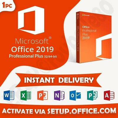 Microsoft Office Professional Plus 2019 1PC 32 /64 BITS- Key Pro All Languages