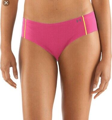 UNDER ARMOUR~ONE SIZE~HOT PINK UA Pure Stretch Sheers Cheeky Panty Underwear NEW