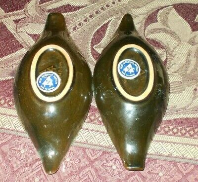 Blue Mountain Pottery Candle Holders Pair Set Both With Original Stickers