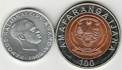 2 different world coins from RWANDA